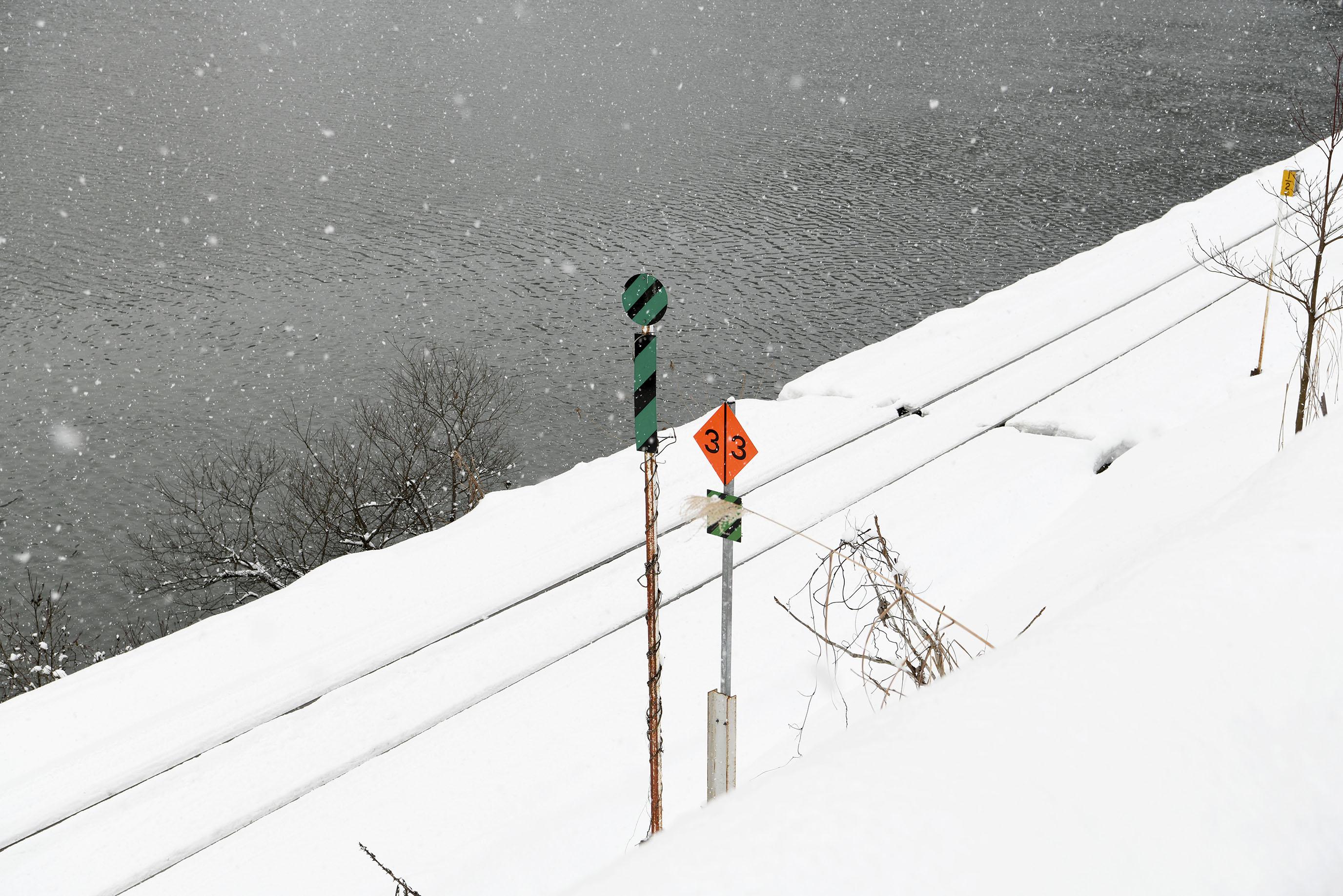 日本東北,與自己出發,拍下大雪紛飛裡的只見線|福島。