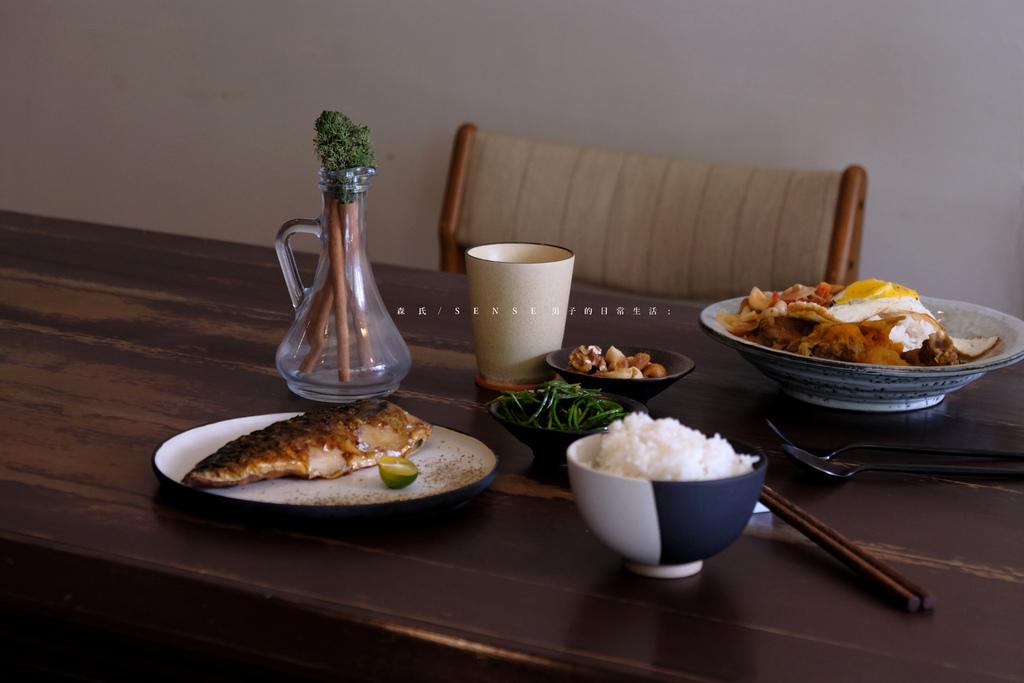 森氏 新北永和,綠意老木風格咖啡館,精緻餐盤上的家常鲭魚飯。永安市場站美食/新北咖啡/永和美食【男子的日常生活】 @MENS 30S LIFE