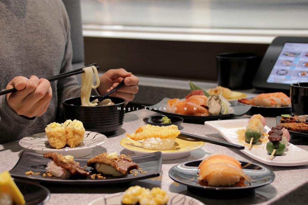 台北 Magic Touch 点爭鮮 信義ATT店,現點現做日本料理,平板點餐新幹線直送。台北信義區/ATT 4 FUN/壽司生魚片【男子的日常生活】 @MENS 30S LIFE