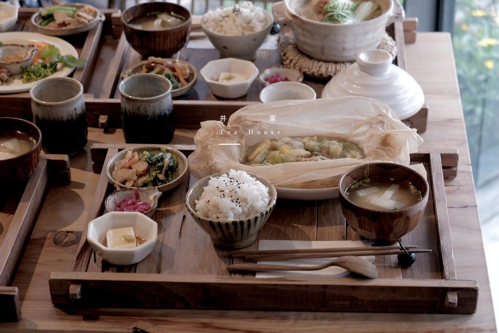 井家Tea House,日式風格蔬食料理,有香氣紙包麻油絲瓜與濃郁奶油白菜煮。新竹早午餐/甜點【男子的日常生活】 @MENS 30S LIFE