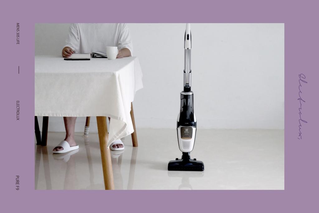 伊萊克斯PURE F9滑移百變吸塵器|北歐生活提案:享受輕鬆打理居家,讓日常住進北歐生活裡。Electrolux瑞典品牌 @MENS 30S LIFE