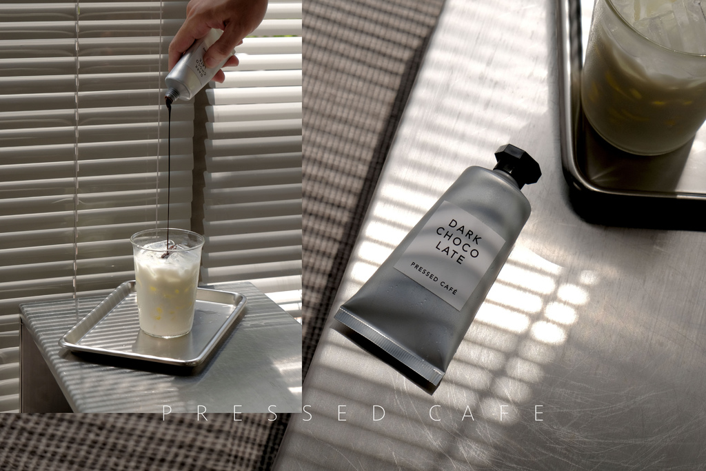 PRESSED CAFE 仿顏料咖啡館|在實驗室廚房裡調配你自己的黑巧克力牛奶 @MENS 30S LIFE